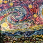 Van Gogh Color Changing Starry Night By Artist Blane Kivley-2