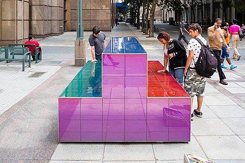 Aurora Public Art Bench